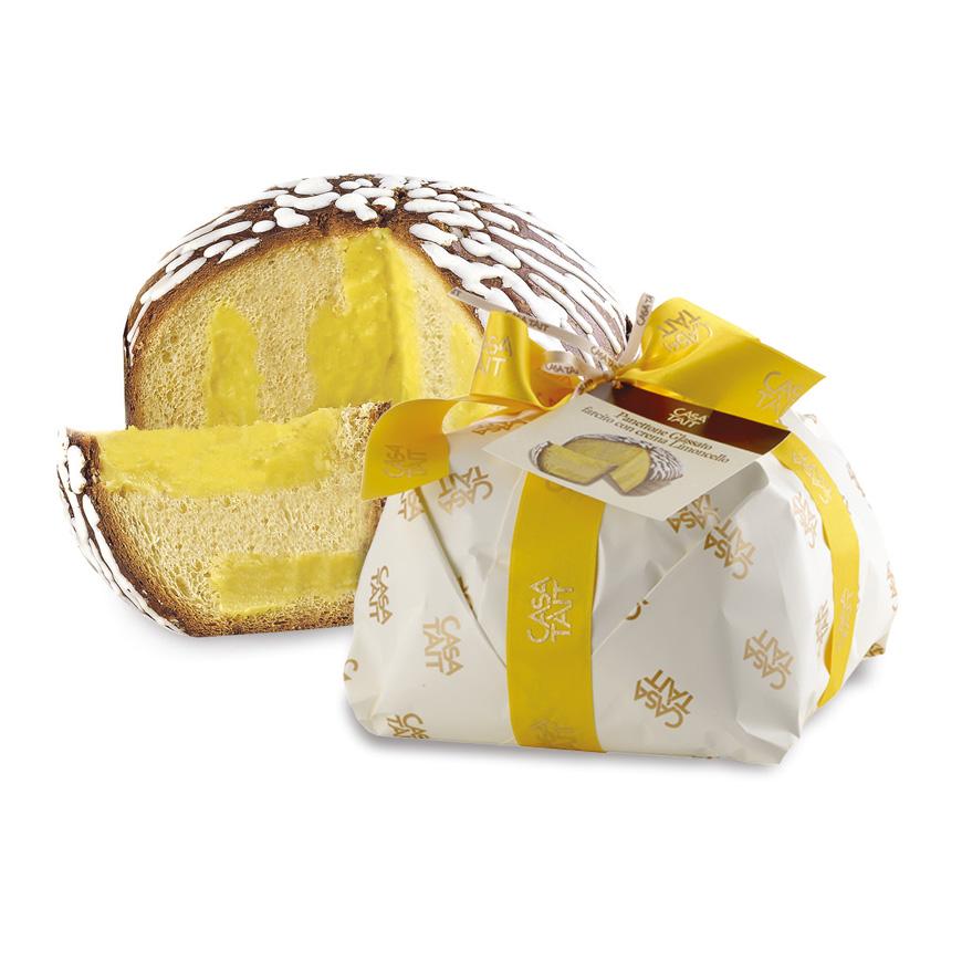 Panettone alla grappa con crema limoncello Villa de Varda