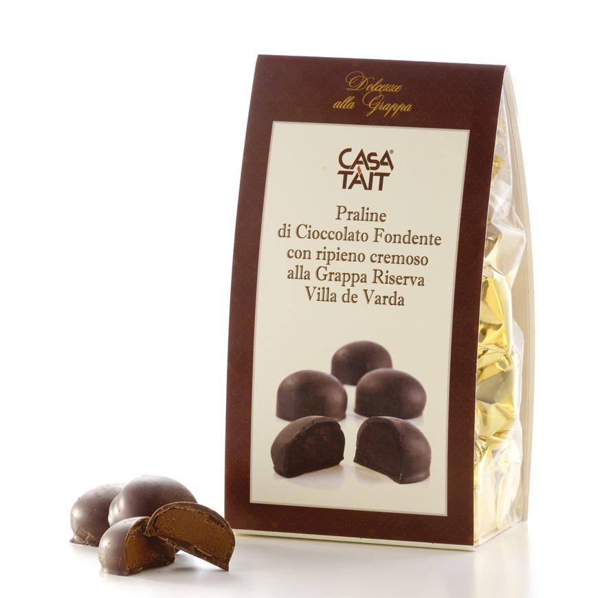 Praline di cioccolato alla grappa Villa de Varda